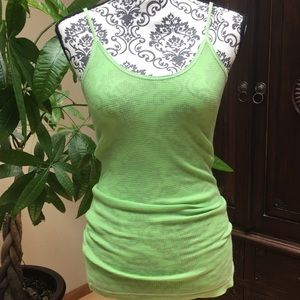 Thermal style tank top